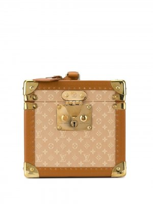 Чемодан с логотипом pre-owned Louis Vuitton. Цвет: коричневый