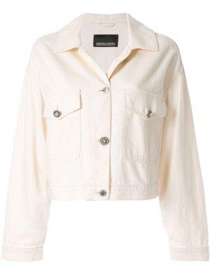 Джинсовая куртка с декоративными пуговицами Ermanno Scervino. Цвет: белый