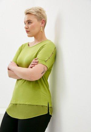 Футболка Elena Miro. Цвет: зеленый