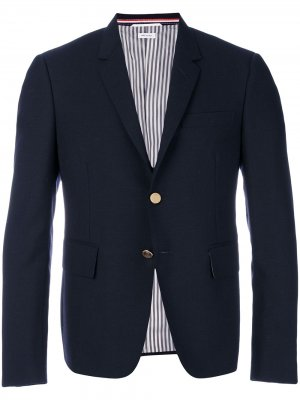 Однобортный пиджак 2ply Fresco Thom Browne. Цвет: синий