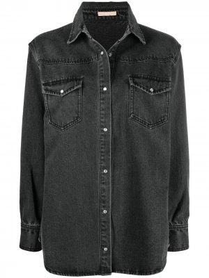 Джинсовая куртка с эффектом потертости 12 STOREEZ. Цвет: серый