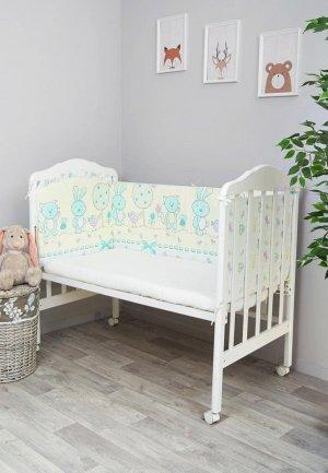Бортик для детской кровати Сонный Гномик Акварель. Цвет: желтый