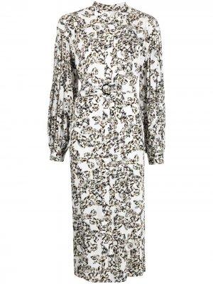 Платье Dilona с принтом Lala Berlin. Цвет: белый