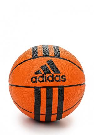 Мяч баскетбольный adidas 3 STRIPES MINI. Цвет: оранжевый