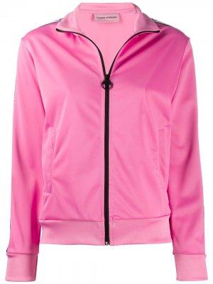 Спортивная куртка Logomania с полосками Chiara Ferragni. Цвет: розовый