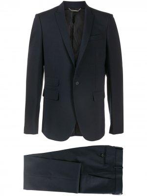 Строгий костюм с однобортным пиджаком Les Hommes. Цвет: синий