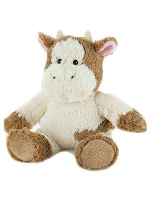 Игрушка-грелка Буренка Cozy Plush. Цвет: молочный, темно-коричневый, коричневый