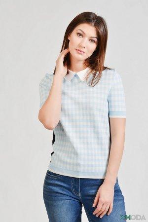 Пуловер Just Valeri. Цвет: голубой