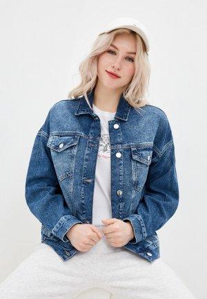Куртка джинсовая Mavi LINDA. Цвет: синий