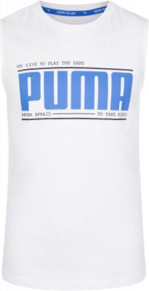 Майка для мальчиков , размер 176-182 Puma. Цвет: белый