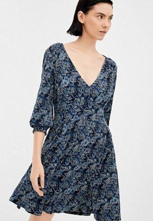 Платье Springfield. Цвет: синий