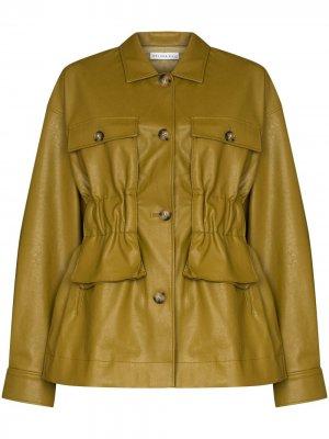 Куртка Keiko из искусственной кожи Rejina Pyo. Цвет: зеленый