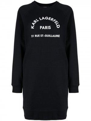 Платье-свитер Rue St Guillaume Karl Lagerfeld. Цвет: черный