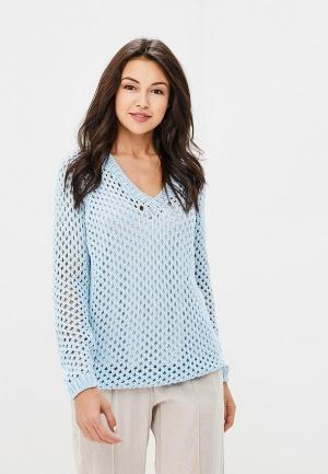Пуловер MaryTes. Цвет: голубой