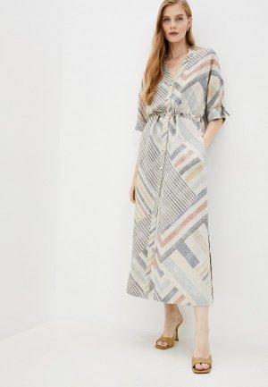 Платье Argent. Цвет: бежевый