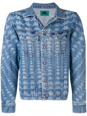 Джинсовая куртка Danilo Paura X Kappa. Цвет: синий
