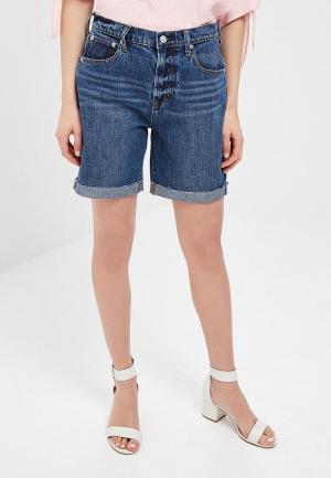 Шорты джинсовые Gap 7 IN HR SHORT MARTHA VINEYARD CUFF RH. Цвет: синий