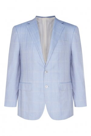 Светло-серый пиджак Stefano Ricci. Цвет: голубой