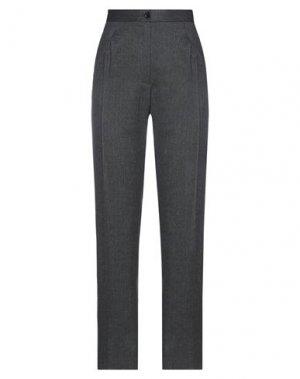 Повседневные брюки HACHE. Цвет: стальной серый