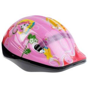 Шлем защитный детский ot-501, размер s (52-54 см), цвет розовый ONLITOP
