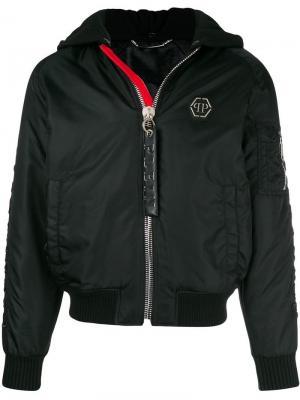 Куртка-бомбер Gothic Philipp Plein. Цвет: черный