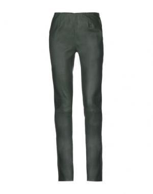 Повседневные брюки ENES. Цвет: темно-зеленый