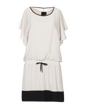 Короткое платье HOTEL PARTICULIER. Цвет: бежевый