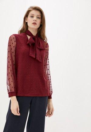 Блуза Argent. Цвет: бордовый
