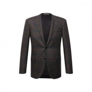 Кашемировый пиджак Corneliani. Цвет: коричневый