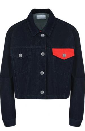 Джинсовая куртка с накладными карманами Current/Elliott. Цвет: синий