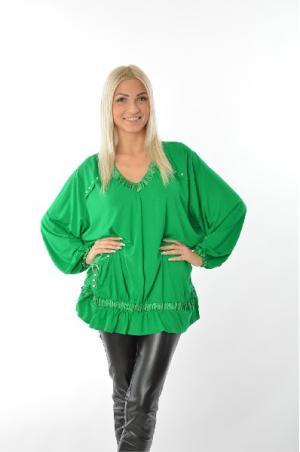 Блуза Зар-Стиль. Цвет: зеленый