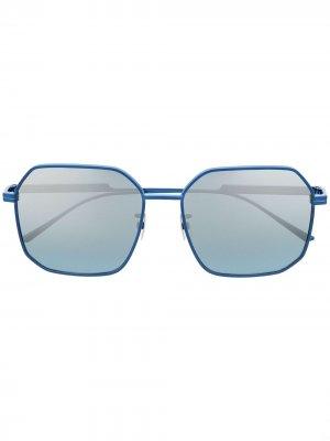 Солнцезащитные очки в квадратной оправе Bottega Veneta Eyewear. Цвет: синий