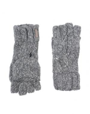 Перчатки BREKKA. Цвет: серый