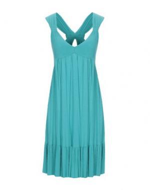 Короткое платье FRANCESCA FERRANTE. Цвет: бирюзовый