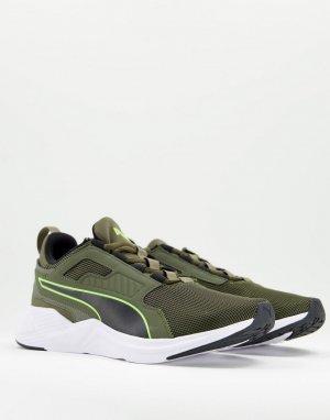 Зелено-желтые кроссовки Disperse XT-Зеленый цвет Puma
