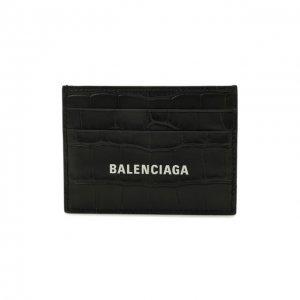 Кожаный футляр для кредитных карт Balenciaga. Цвет: чёрный