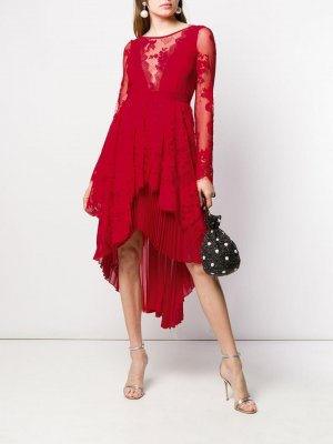Платье с кружевными вставками Aniye By. Цвет: красный