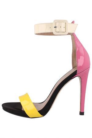 Босоножки EL Dantes. Цвет: pink, yellow, beige