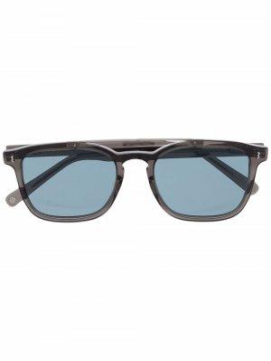 Солнцезащитные очки в квадратной оправе Eight & Bob. Цвет: серый