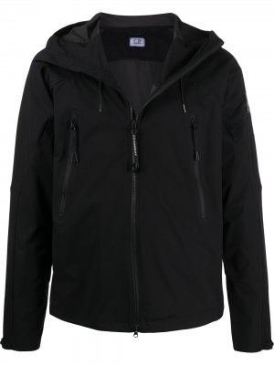 Zipped pocket hooded jacket CP Company. Цвет: черный
