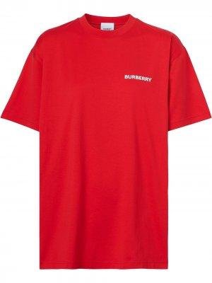 Футболка с принтом Burberry. Цвет: bright red