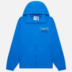 Мужская куртка ветровка Graphics Common Memory Pack adidas Originals. Цвет: голубой