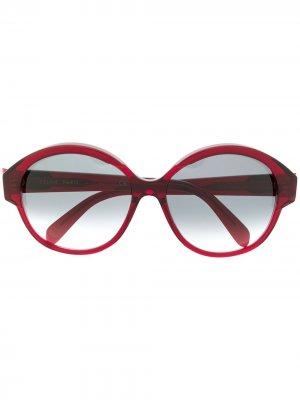 Солнцезащитные очки Maillons Triomphe в круглой оправе Celine Eyewear. Цвет: красный
