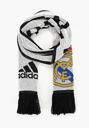 Шарф adidas REAL SCARF. Цвет: белый