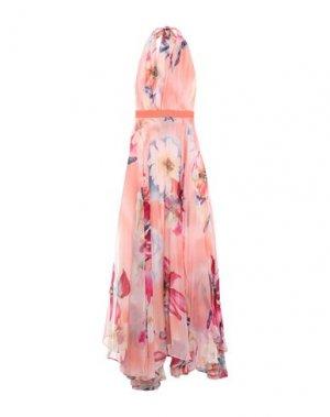 Длинное платье HANITA. Цвет: лососево-розовый