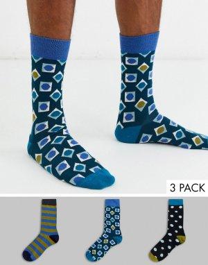 3 пары носков в подарочной упаковке HS By -Мульти Happy Socks
