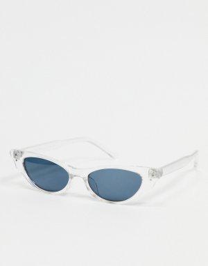 Прозрачные солнцезащитные очки кошачий глаз -Прозрачный AJ Morgan