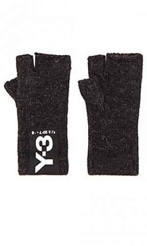 Перчатки badge Y-3 Yohji Yamamoto. Цвет: черный