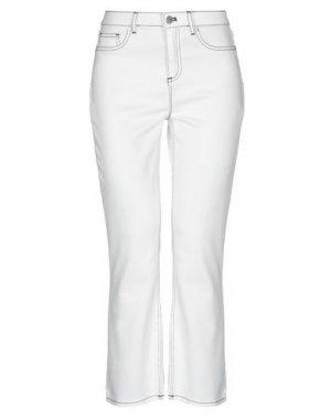 Джинсовые брюки ELIE TAHARI. Цвет: белый