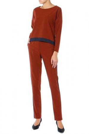 Костюм: туника, брюки Adzhedo. Цвет: темно-горчичный, синий